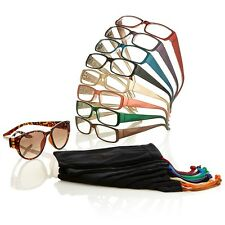 Joy Mangano SHADE Readers The Biggest Set Ever-18 Piece Set w/Bifocal Sunglasses