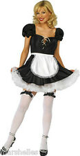 LADIES  FRENCH MAID WAITRESS SEXY FANCY DRESS COSTUME OUTFIT WOMENS WENCH