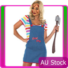 Ladies Sexy Seed of Chucky Doll Halloween Costume Fancy Dress Up Outfits