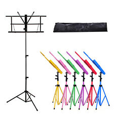 Metal Adjustable Folding Sheet Music Stand Holder Foldable with Carry Case Bag