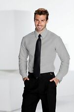 NEW Mens XSmall Fitted Gray Tuxedo Tux Shirt Plain Front Formal Dress XS 13-13.5