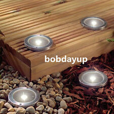 1PC Solar Brick Deck Garden Outdoor Stainless 3LED Path Road Square Yard Light