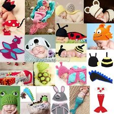 Newborn Baby Crochet Knit Costume Photography Photo Prop Hat Cap Set Outfit B5UT