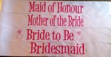 WHITE Hens Night Hens Party Bridal Sash - 19 designs to choose from BEST QUALITY