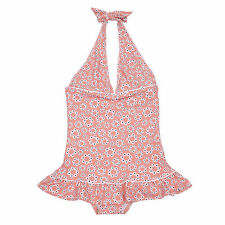 Elfindollkids Girls Halter Overall Swimdress in Pink Size 2,3,4,5,6,7,8,9,10
