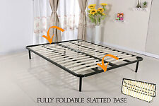 Slatted Folding Guest Bed/Bed Base in Single, Double, King size - FREESTANDING