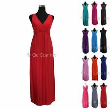 NEW WOMEN'S SEXY V-NECK MAXI BOHO LONG BEACH SUMMER DRESS EVENING PARTY DRESSES
