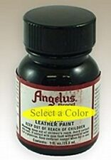 Angelus Brand Acrylic Leather & Vinyl Paint 1 oz - 35 COLORS - Brush in cap