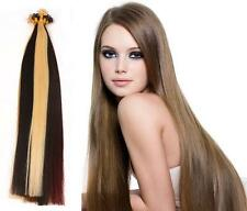 "18"" Indian Remy AAA Grade Double Drawn Nail Tip Human Hair Extensions x200 -0.9g"