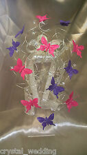 Crystal & butterfly swirl  mini cascade bouquet -  all colours