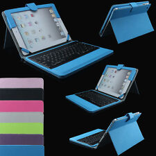 For Apple iPad Air 2 /iPad 5 PU Leather Case Stand With Bluetooth Keyboard Cover