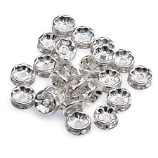 50pcs New Silver Plated Glass Crystal Beads For Basketball Wives Earring