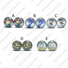 Despicable Me Stainless Steel Stud Earrings - Mens Womens - Minions & More - New