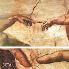 "48W""x33H"" CREATION OF ADAM by MICHELANGELO Repro CANVAS"