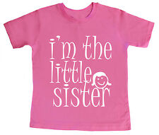 I'm the Little Sister sibling Funny Cute T-shirt Girl Top Gift Clothes Present