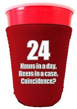 24 Hours in a Day, Beers in a Case, Coincidence? Funny Solo Cup Coolie