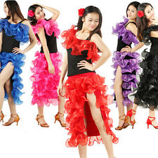 NEW Latin Ballroom Dance Dress Modern Salsa Waltz Standard Long Dress #HB168