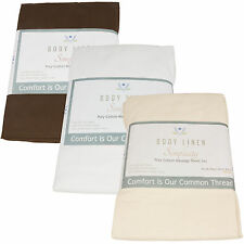 Poly-Cotton Fitted Massage Table Sheets 5pk Body Linen