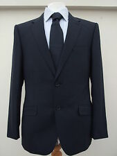 HOUSE OF FRASER LINEA MENS PURE WOOL SMART SUIT NAVY BNWOT