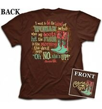 Christian T-Shirt OH-NO Cowboy Boots Cherished Girl Kerusso Womens BRAND NEW