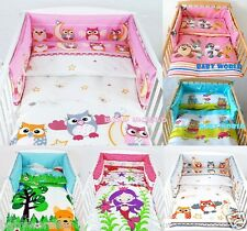 3-PIECE BABY NURSERY BEDDING SET WITH BUMPER  10 COLOURS