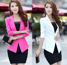 2014 slim fit sexy women 3/4sleeve one button candy color girl working suit X219