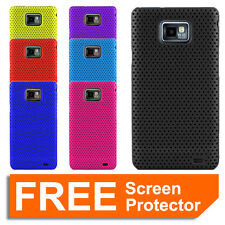 Mesh Hard Case Cover Skin for Samsung Galaxy S2 SII i9100 + Screen Protector