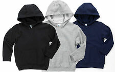 Boys Girls Black or Grey Hoody Hooded Top/Jumper Plain ♥Ages 5 6 7 8 9 & 10 BNWT