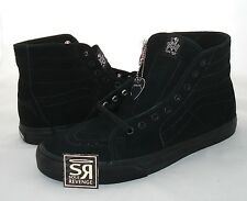 New 7.5 Vans METALLICA James Hetfield Sk8-Hi Deconstruct Shoes Black White KILL