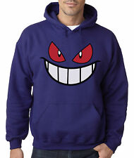 Gengar Hooded Sweater Pokemon Anime Shirt Hoodie Cool Front and Back Design