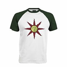 Dark souls 2 - Green and white Shirt Darksouls sunbros  PRAISE THE SUN