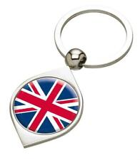 England Union Jack Great Britain Silver Coloured Keyring - Mothers Day Fathers D