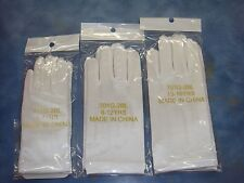 Girls White Satin Gloves/ Communion/ Wedding/ Baptism/ Sz 4-7, 8-12, 13-16 years