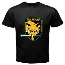 FOX HOUND FOXHOUND Special Force Metal Gear Solid Men's Black T-Shirt Size S-3XL