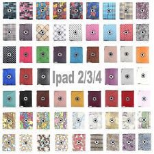Hot For Apple iPad 2/3/4 360 Rotating Magnetic PU Leather Case Smart Cover Stand