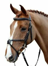 HKM Leather Mexican Grackle Bridle With Reins Size Full/Cob/Pony Black/Brown