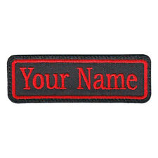 RECTANGULAR 1 LINE CUSTOM EMBROIDERED NAME TAG  (D)