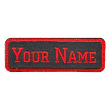 RECTANGULAR 1 LINE CUSTOM EMBROIDERED NAME TAG  (F)