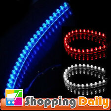 24cm 24 LED Car Neon Waterproof Flexible Strip Light Lamp Bulb 12V