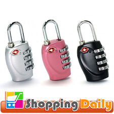 TSA Approved 4-Dial Luggage Locks 4-Digit Combination