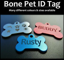 Aluminium Bone Shaped Pet Tag With FREE Engraving for Dog Cat Puppy Tags