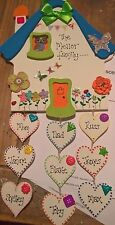 Handmade, wooden FAMILY HOUSE  plaque...keepsake, mothers day gift