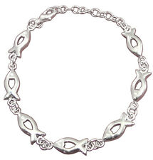 Silver plated fish bracelet custom engraved with gift box, ideal present - W24