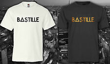 Bastille British Band Dan Smith Pompi Logo Floral Unisex Top Tee Tshirt t shirts