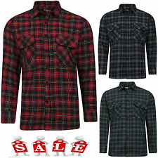 NEW MENS BOYS LUMBERJACK COTTON CHECK TOP SOFT WORK CASUAL LONG SLEEVE SHIRT