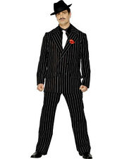 Mens 20s Zoot Pin Suit Gangster Capone Gatsby 1920s Fancy Dress Costume