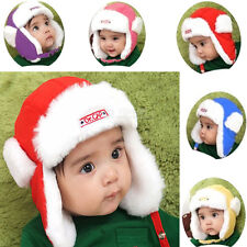 Toddler Baby Infant Kid Faux Fur wool Earflap Bomber Beanie Hat Cap Aviator FH08