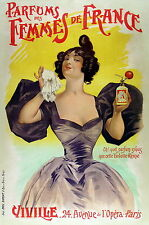 6 Vintage Advertising Poster Perfume  *FREE POSTERS