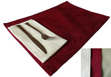 Venus Rectangular Placemats - Assorted Colors - Sets of 4 or 6 Pieces