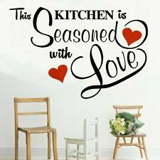 This Kitchen Seasoned with Love Wall transfer sticker